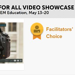 A picture of the NSF Video Showcase award