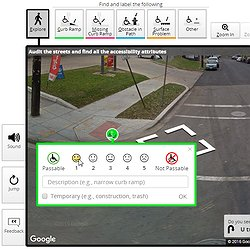 A screenshot of a user labeling a curb ramp in Project Sidewalk