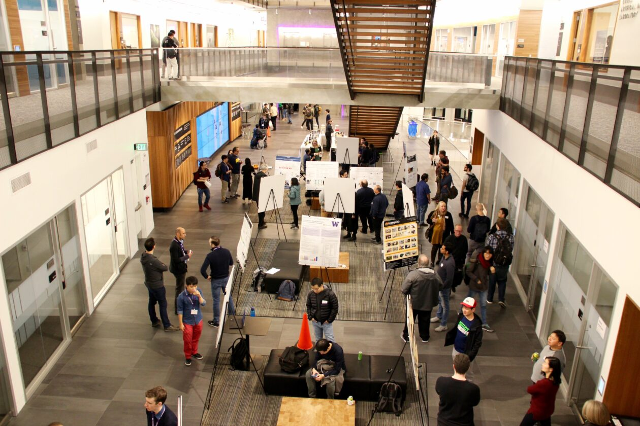 Picture of the poster fair in the Gates Building